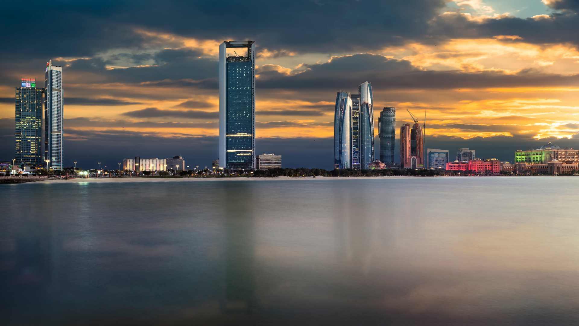 Abu Dhabi view from beach